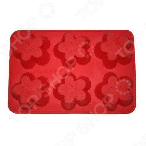 Форма для выпечки Marmiton «Цветочки», 6 ячеек. В ассортименте