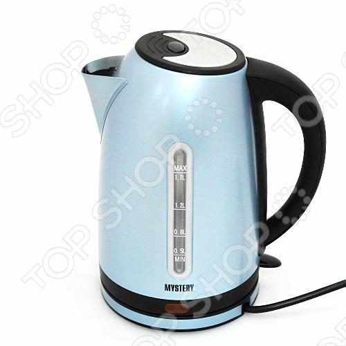 Чайник Mystery MEK-1630 чайник mystery mek 1633 2000 вт 1 7 л нержавеющая сталь серебристый