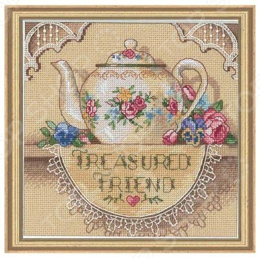 Канва для вышивания Dimensions «Кружевной чайничек»