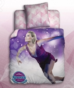 Комплект постельного белья Unison Figure Skating комплект белья unison версаче 2 х спальный наволочки 70х70 цвет бежевый коричневый