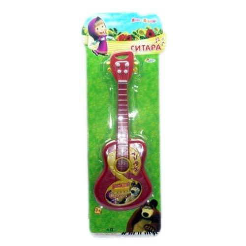фото Гитара игрушечная Играем Вместе Маша и медведь, Игрушечные музыкальные инструменты