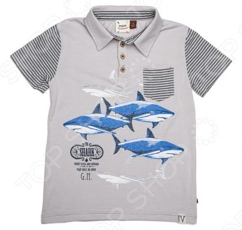 Рубашка-поло для мальчиков Fore!! Axel and Hudson The Shark-G.N. Print Polo