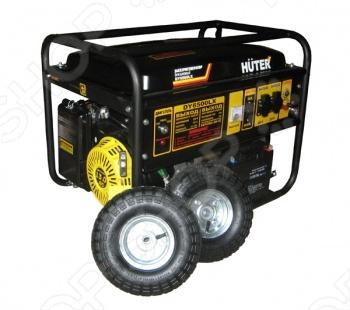 Электрогенератор с колесами и аккумулятором Huter DY6500LX