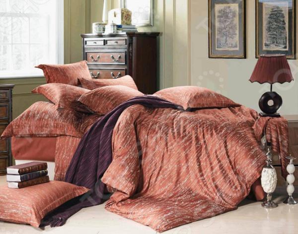 Комплект постельного белья Primavelle Фьюджи роскошный набор, способный украсить интерьер любой спальни. Включает простынь, пододеяльник 2 шт. и четыре наволочки разного размера. Изготовлен из надежной и приятной на ощупь ткани. Главное, соблюдать рекомендации по уходу за комплектом. Изделия необходимо стирать при температуре, указанной на ярлычке, с использованием порошка для цветного белья. Не следует прибегать к применению хлорсодержащих средств и отбеливателей. Желательно выворачивать белье наизнанку перед стиркой. Наволочки с декоративной отделкой ушки , пододеяльник на пуговицах. Верх пододеяльника и наволочки сделан из тенселя, низ пододеяльника и наволочек, а также простыня сатин. Упаковка подарочный чемоданчик.