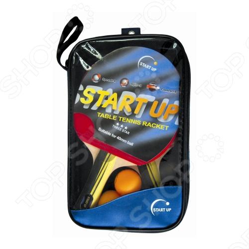 Набор для настольного тенниса Start Up BB01/3 star набор для настольного тенниса start line level 200 2 ракетки 3 мяча