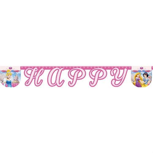 Гирлянда детская Procos «Принцессы Дисней-Happy Birthday» disney гирлянда детская на ленте тачки с днем рождения