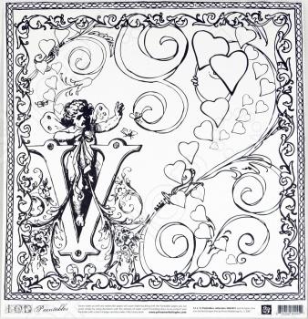 фото Бумага для раскрашивания Prima Marketing Amour, купить, цена