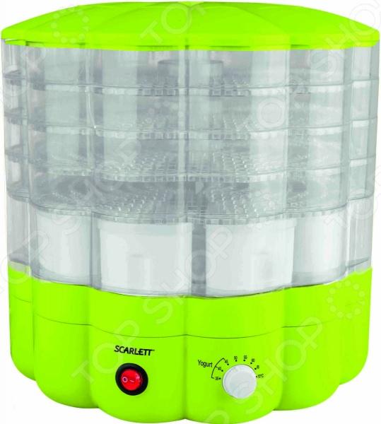 Сушилка для овощей и фруктов Scarlett SC-FD421001 станет отличным дополнением к набору вашей бытовой техники для кухни. Модель функциональна и практична в использовании, подойдет для сушки различных овощей, фруктов, ягод, грибов и трав, а также для приготовления йогурта в домашних условиях. Сушилка пятисекционная; снабжена системой механического управления, функцией регулировки температуры в диапазоне от 35 С до 70 С и встроенным вентилятором для обеспечения более равномерной сушки продуктов.