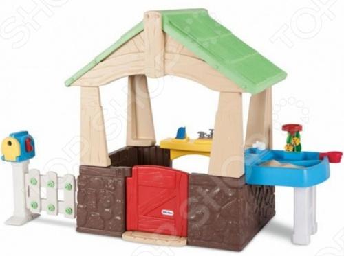фото Игровой домик Little Tikes с песочницей, Игровые домики. Горки. Качели