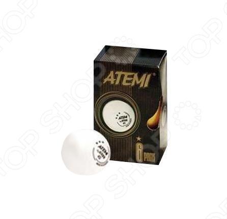 Мячи для настольного тенниса ATEMI 1* белые, 6 шт.