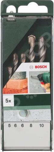 Набор сверл по бетону Bosch 2609255417 набор сверл по бетону bosch 5шт 5 10 2609255417