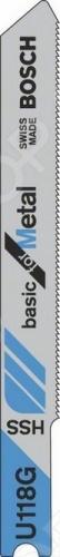 Набор пилок для лобзика Bosch U 118 G HSS