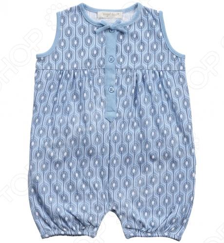 Angel Dear, создает классическую одежду для новорожденных и детей младшего возраста от 0 до 4 лет . При создании учитываются самые современные тенденции в мире моды, и особое внимание уделяется деталям. Каждая коллекция имеет свой неповторимый стиль, который дополняется различными милыми аксессуарами, чтобы сохранить ощущения столь сладостного периода детства. Комфорт ребенка - основополагающий принцип в создании коллекций каждого сезона. Линии одежды Angel Dear вы можете увидеть в лучших бутиках и магазинах по всей территории США. Песочник Angel Dear Willa. Нежный песочник с рисунком из 100 хлопка, округлый вырез горловины оформлен маленьким бантом, застежка на 3-х пуговицах, сзади рюши. Прекрасный вариант для повседневной носки. Состав: 100 хлопок.
