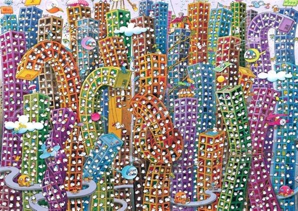 Пазл 2000 элементов Heye «Город» Guillermo MordilloПазлы (1001–3000 элементов)<br>Игра Пазл была изобретена более двухсот лет назад в Англии и с тех пор не теряет своей актуальности, продолжая с каждым годом набирать всю большую и большую популярность у поклонников развивающих игр и головоломок. Объясняется все тем, что собирание пазлов это не просто интересное и увлекательное времяпрепровождение, а возможность самостоятельно создать чудесную картину. Пазл 2000 элементов Heye Город Guillermo Mordillo станет прекрасным подарком как для ребенка, так и для взрослого. По утверждениям психологов, собирание головоломки способствует развитию цветового восприятия, мелкой моторики рук, воображения и когнитивного мышления; делает вас более усидчивым, внимательным и организованным. После же, сложенную картину можно склеить с помощью специального клея для пазлов и украсить ею интерьер комнаты. За основу сюжета для пазла взята картина известного аргентинского художника-иллюстратора Гильермо Мордилло. Пазлы изготовлены из плотных материалов; отличаются яркой цветовой гаммой, высоким качеством полиграфии и точной нарезкой деталей, обеспечивающей их хорошую стыковку друг с другом. Размер сложенного изображения 96,6х68,8 см.<br>