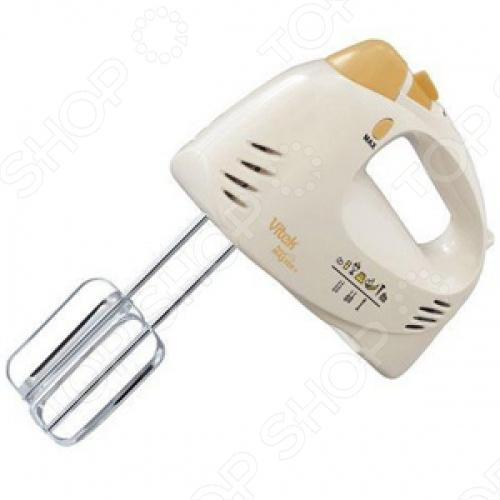 Vitek VT-1404 является практичным и удобным миксером в элегантном классическом стиле. Он может взять на себя наиболее трудную часть кухонной работы и сэкономит много времени. Имеет пять скоростных режимов, а также турборежим. Смешать однородное тесто для блинов или бисквита вам помогут крюки, изготовленные из прочной нержавеющей стали. А венчики для взбивания подойдут для пышного мусса, приготовления крема для торта, взбивания сливок и яиц. Также есть насадка-блендер, что применяется для пюре, крем-супов, смешивания домашнего майонеза и других соусов. Насадки миксера Vitek VT-1404 легко заменить, нажав специальную кнопку.