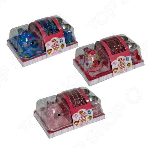 Сервиз чайный со столовыми приборами игрушечный 1 Toy «Я сама» чайный набор 1toy я сама металлическая 9438 в ассортименте