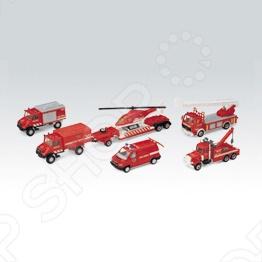 Набор машинок игрушечных Welly «Пожарная служба» 99610-6B игровой набор welly пожарная служба 3 шт н д красный 99610 3c