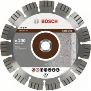Диск отрезной алмазный для угловых шлифмашин Bosch Best for Abrasive 2608602680