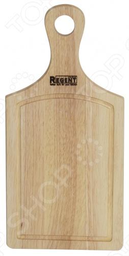 Доска разделочная Regent 93-BO-2Доска разделочная Regent 93-BO-2 просто незаменима на любой кухне. Предназначена для нарезания и разделывания различных продуктов, а также для защиты поверхности стола. Модель изготовлена из гевеи, благодаря чему режущие кромки ножей не повреждаются. Оснащена колечком для подвеса и специальным желобком, который не даст соку от продуктов стекать на стол. Доска разделочная Regent 93-BO-2 практична в использовании, легко очищается от жира и не впитывает запахи. Она устойчива к истиранию и деформации, не поддается грибку и плесени, гигиенична и не вступает в химическую связь с продуктами. Также ее можно использовать как подставку под горячую посуду. Благодаря оригинальному дизайну, доска Regent 93-BO-2 станет ярким пятном в интерьере любой кухни.<br>