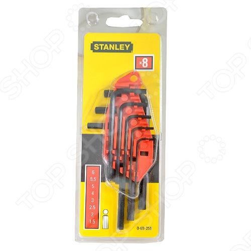 Набор шестигранников Stanley 0-69-251 набор шестигранников stanley 9 шт