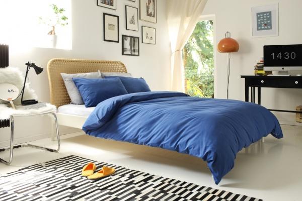 Фото Комплект постельного белья Dormeo Una. 1-спальный. Цвет: синий
