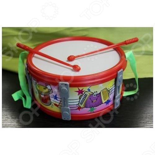 Барабан Shantou Gepai большойИгрушечные музыкальные инструменты<br>Товар продается в ассортименте. Рисунок и цвет товара при комплектации заказа зависят от наличия товарного ассортимента на складе. Игрушка Барабан 23 см большой станет любимой игрушкой Вашего малыша. Яркие цвета и оригинальный дизайн на долго привлекут внимание ребёнка. В процессе игры ребёнок ознакомится с таким понятием, как чувство ритма, а это, в свою очередь очень важно, при формировании музыкального слуха. Игрушка изготовлена из прочных экологически чистых материалов, абсолютно безопасных для здоровья ребёнка. Для детей от 3х лет.<br>