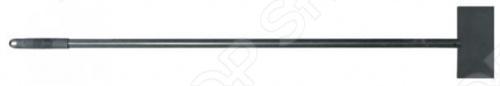 Скребок с трубой и ручкой РОС 68140 для удаления льда, снега и твердой грязи. В целом инструмент изготовлен из инструментальной стали, только ручка сделана из пластика. Полотно имеет длину 100 мм и толщину 4 мм.