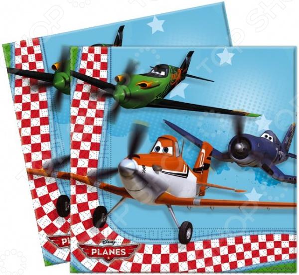 Салфетки детские Procos «Самолеты» procos аксессуар для детского праздника приглашения в конвертах самолеты 6 шт