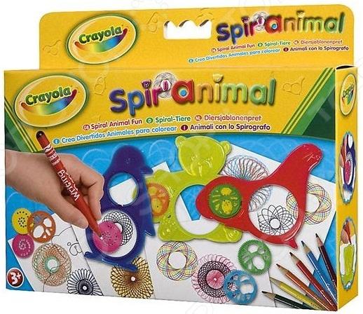 Набор трафаретов Crayola «Животный мир»Машинки. Трафареты для рисования. Штампы<br>Набор трафаретов Crayola Животный мир это отличный набор трафаретов с карандашами, который позволит вашему ребенку создать множество замечательных произведений искусства. Даже самые маленькие дети, которые еще не умеют держать карандаш смогут рисовать с этим набором. Внутри вы найдете 6 цветных карандашей, 3 трафарета: собачка, слон и обезьяна, а так же 1 фломастер и бумага. В каждом трафарете есть три диска, ребенку потребуется взять один из них, вставить карандаш и начать рисовать.<br>