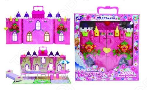 фото Замок для кукол с мебелью 1 Toy «Земляничка», Игровые наборы для девочек