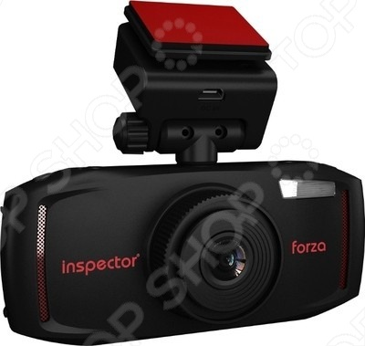 Видеорегистратор Inspector Forza представляет собой миниатюрную модель, обладающую качественным объективом и высоким разрешением экрана. Фирменное крепление позволяет очень легко и быстро снимать крепить регистратор на стекло. Небольшой размер позволит спрятать прибор за зеркалом заднего вида так, что он не будет мешать обзору. В видеорегистраторе Inspector Forza встроены датчики движения и сотрясения G сенсор , благодаря которым файлы, полученные в момент резкого торможения автомобиля, перемещаются в отдельную папку для защиты от перезаписи.
