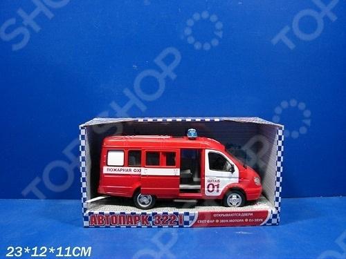 Машина инерционная Joy Toy «Газель 3221 Пожарная» Р40526