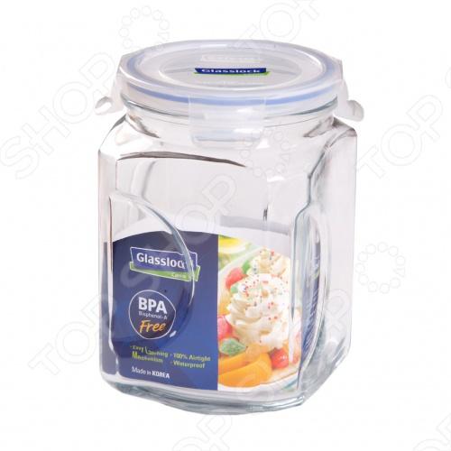 Банка для сыпучих продуктов Glasslock IPБанки для хранения<br>Банка для сыпучих продуктов Glasslock IP очень удобна в использовании. Контейнер изготовлен из экологичного, необычайно прочного материала - закаленного ударопрочного стекла. Он выдерживает резкий перепад температур, что позволяет сразу после использования мыть контейнер в холодной воде.<br>
