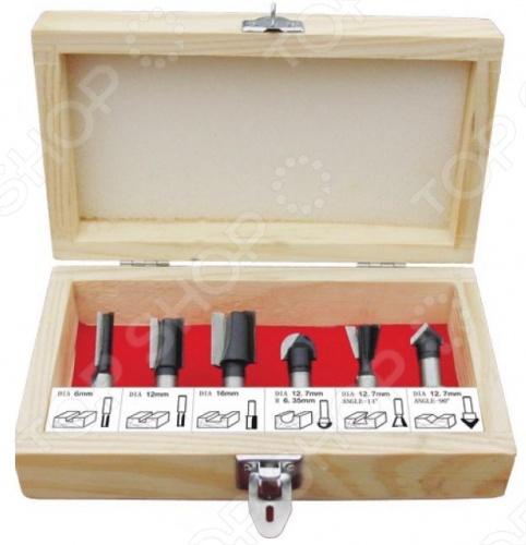 Набор фрез по дереву кромочных FIT 36566 с хвостовиком 6 мм. В комплекте вы найдете 6 штук. Режущая кромка из высококачественной инструментальной стали. Упаковка: деревянная коробка.