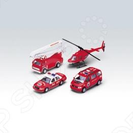 Набор машинок игрушечных Welly «Пожарная служба» 98160-4C welly welly набор служба спасения скорая помощь 4 штуки