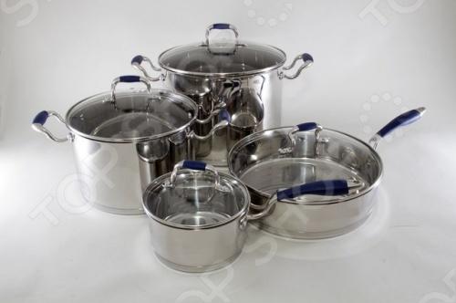 Набор посуды Stahlberg MARIANA 1809-S ковш литой со стеклянной крышкой quelle frybest 1028985