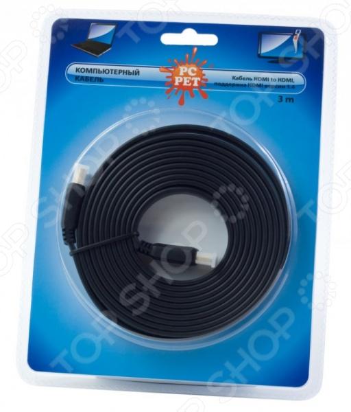 фото Кабель PC Pet Cable Video HDMI FLAT ver1.4, Кабели, провода