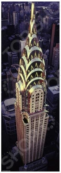 Пазл 1000 элементов Heye «Chrysler Building»Пазлы (501–1000 элементов)<br>Пазл Heye Chrysler Building это отличное и веселое времяпрепровождения для всей семьи. Внутри упаковки находится набор из 1000 элементов. Части изображения соединяются между собой с помощью пазлового замка. Собрав все детали воедино, у вас получится великолепная картина, которую, сперва надежно закрепив, можно повесить на стену, как предмет декора. Пазл Heye Chrysler Building изготовлен из абсолютно безопасного материала, поэтому замечательно подойдет для детей. Головоломка развивает усидчивость, наблюдательность, образное восприятие и логическое мышление. Постоянно манипулируя деталями, ребенок улучшает мелкую моторику рук и координацию движений. Размер готового пазла составляет 94,5х32,6 см.<br>