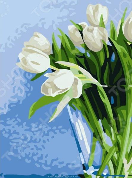 """Набор для рисования по номерам """"Белоснежка"""" Нежные тюльпаны"""