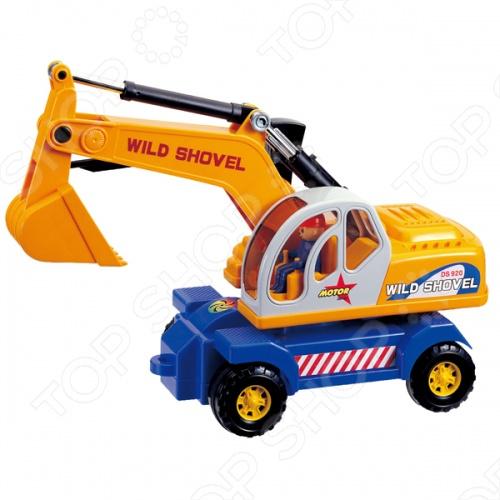 Машинка игрушечная Daesung экскаваторМашинки<br>Машинка игрушечная Daesung экскаватор - яркая, реалистичная, качественно смоделированная копия грузовика специального назначения, с инерционным механизмом. Отличная модель для игры как дома, так и на улице с друзьями. Подарите вашему малышу интересную и оригинальную игрушку, которая в свою очередь обеспечит массу удовольствия и веселья за игрой.<br>