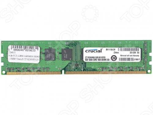 Память оперативная Crucial CT102464BA160B оперативная память qnap ram 2gdr3ec ld 1600