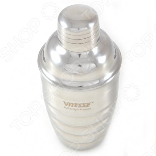 Если вы любите зажигательные коктейли и праздничные напитки, то вам не обойтись без шейкера Vitesse. Для приготовления различных коктейлей обычно используют: сок, ликер, сироп, крепкий алкогольный напиток и несколько кубиков льда. Шейкер вместе с содержимым встряхивают в течение нескольких секунд, а затем выливают в бокал через сито. Можно мыть в посудомоечной машине. В комплекте идет ситечко.