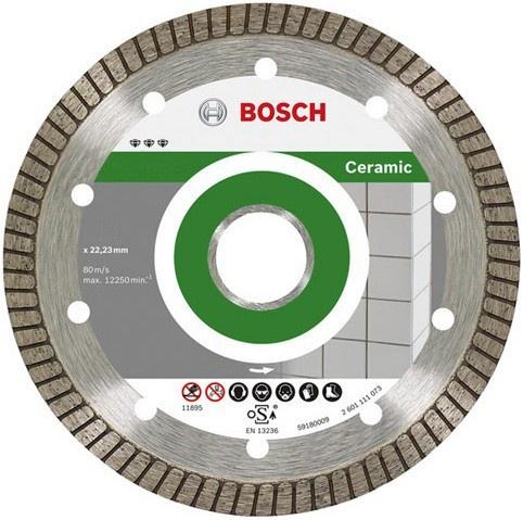 Диск отрезной алмазный для угловых шлифмашин Bosch Best for Ceramic Extra-Clean Turbo 2608602479