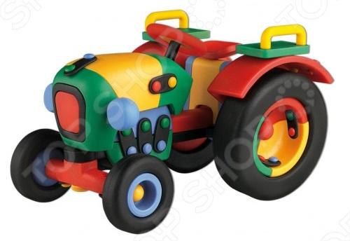 Конструктор игровой Mic-o-mic Трактор оригинальный, подарочный комплект, состоящий из множества деталей разнообразной формы, который даст возможность познакомить малыша с техникой. С помощью элементов этого конструктора можно собрать целый трактор. Состоит из креплений и других частей, которые легко соединяются между собой. Детский конструктор является достаточно практичным учебным пособием, так как он развивает память, мышление, логику, фантазию, а также моторику рук. Сборка конструктора подарит ребенку массу удовольствия и приятное времяпрепровождение.