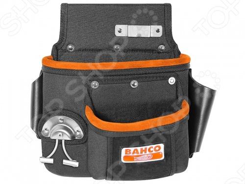 Сумка BAHCO поясная вмещает все предметы первой необходимости. Унивесальна. Прочный промышленный шов. Детали надёжно защищены от коррозии.