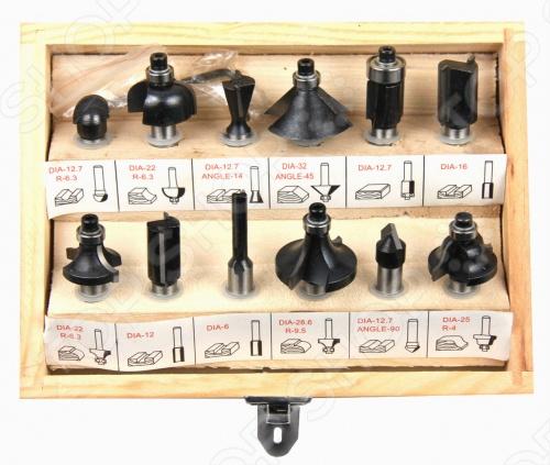 Набор фрез по дереву кромочных FIT 36578 на 8 мм, в наборе 12 шт. Кромочные, для фасок. Режущая кромка из высококачественной инструментальной стали. Упаковка: деревянная коробка.