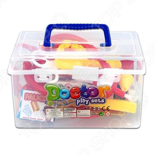 Набор доктора в чемодане 8402-1Сюжетно-ролевые наборы<br>Набор доктора в чемодане 8402-1 станет отличным подарком для вашего малыша, даст ему возможность почувствовать себя настоящим врачом. Известно, что сюжетно-ролевые игры не только увлекательны, но и весьма познавательны для ребенка, они способствуют развитию воображения, логики и понимания причинно-следственной связи. Составляющие набора изготовлены из высококачественных ударопрочных материалов и упакованы в прозрачный пластиковый чемоданчик.<br>