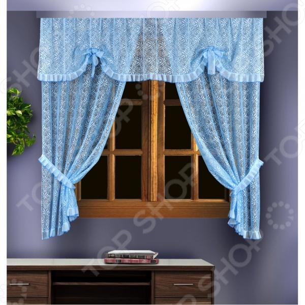 Комплект штор Wisan 88836Шторы<br>Комплект штор Wisan 88836 это качественный оконный занавес, который преобразит интерьер и оживит атмосферу, придав всей комнате домашний уют, завершенность и оригинальность. Шторы изготовлены из полиэстера, который практически не мнется, легко отстирывается от загрязнений, не притягивает пыль и не требует глажки. Благодаря этому ткань способна выдержать сотни стирок без потери цвета и прочности. Обычные материалы со временем выгорают, на них собирается пыль, появляются неприятные запахи. С полиэстером этого не происходит штора почти не пачкается и не впитывает запахи, при этом вы очень легко ее постираете и высушите. Интерьер квартиры или дома, в котором окна не украшены занавесом, сегодня трудно представить, поэтому шторы станут отличным подарком для любого человека. Купить шторы способ недорого, быстро и изящно преобразить дизайн домашнего интерьера!<br>