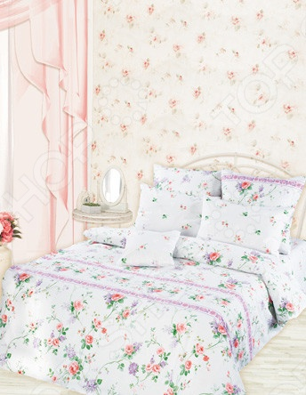 Комплект постельного белья Романтика Прованс постельное белье романтика комплект постельного белья 1 5 перкаль валери
