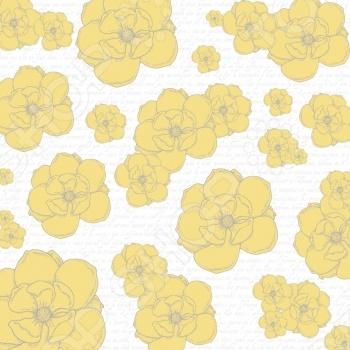 фото Бумага для скрапбукинга двусторонняя Teresa Collins Yellow Flowers, купить, цена